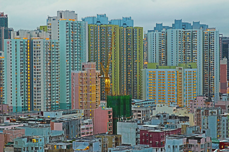 public housing: public housing estat at hong kong Stock Photo