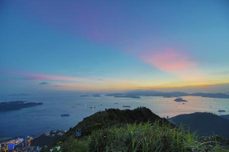 lantau: Victoria Harbor di ponente, vista di Lantau Island