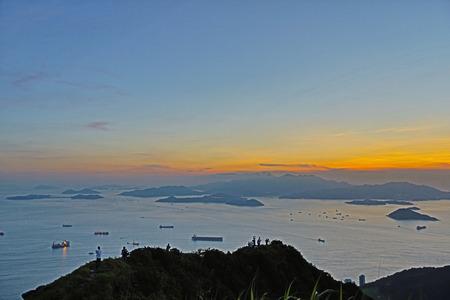 lantau: Victoria Harbor di ovest, vista su Lantau Island