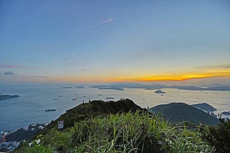 lantau: Victoria Harbor of west , view of Lantau Island