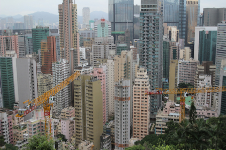 view of the busy city of Wan Chai Hong Kong