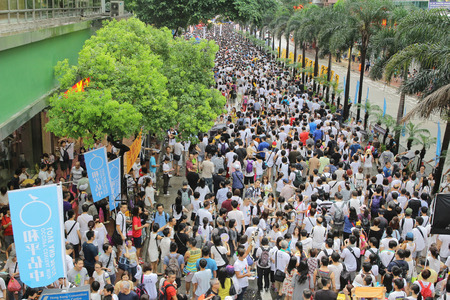 million of Hongkongers join the Anti-Government march on July 1 新聞圖片