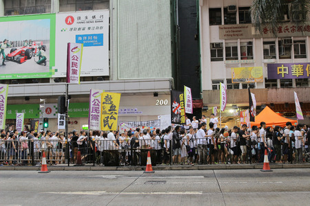 chief executive officers: Hongkongers join the Anti-Government at 1 July