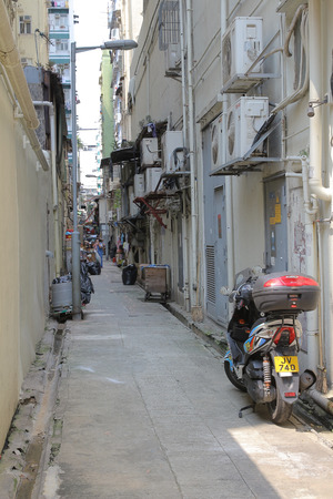 back alley: A Back alley in  kowloon Editorial