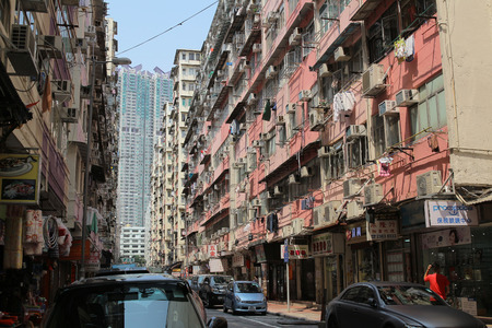Hong Kong Old Residential Area, Ma Tau Wai 版權商用圖片 - 30708946