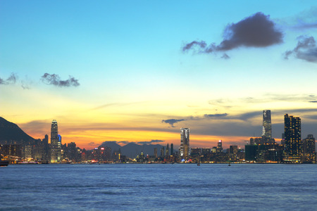 magic hour: Magic hour of Kowloon Peninsula in Hong Kong