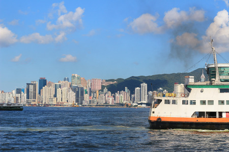 habour: wan chai coastline Editorial