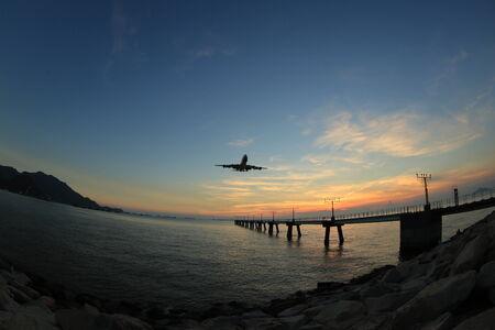 landing light: airport runway landing light