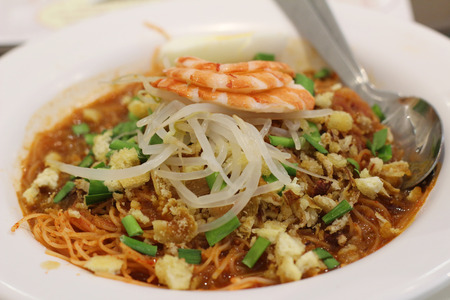 malaysia culture: a popular traditional spicy noodle soup from the Peranakan culture in Malaysia and Singapore