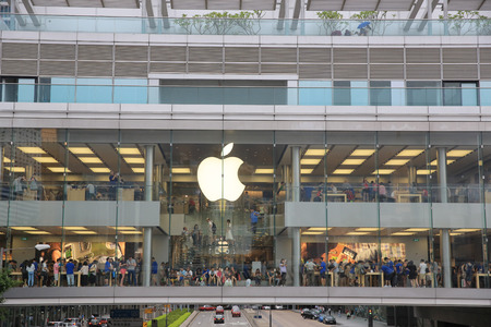 HONG KONG, CHINA -  Apple Store in the city center