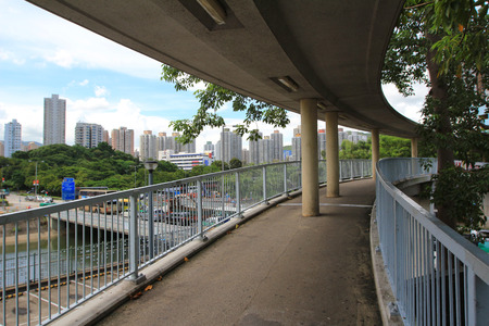 footbridge 版權商用圖片