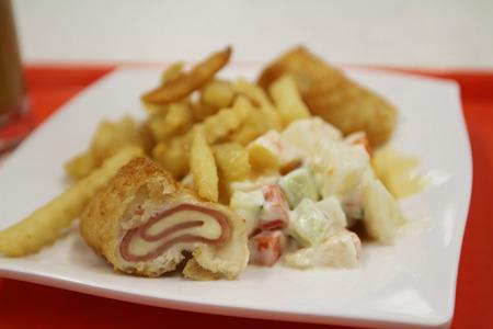 comida rápida: comida r�pida Foto de archivo