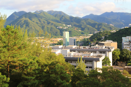 arial view: Arial view of the Chinese University of Hong Kong CUHK is a public research university in Shatin, Hong Kong