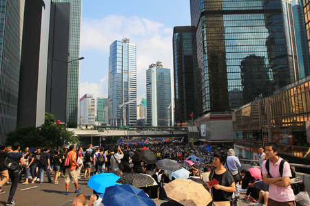 mbrella Revolution in Admiralty, Hong Kong