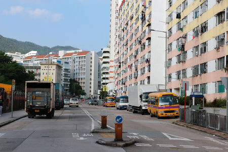 public housing: public housing estate at hong kong Editorial