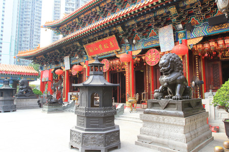 Wong Tai Sin Temple in Hong Kong 版權商用圖片