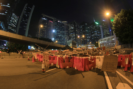 suffrage: road block of Hong Kong people are fighting for a real universal suffrage for the next chief executive election.