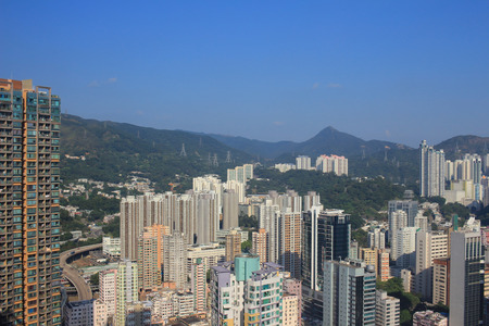 wan: Tsuen Wan district Stock Photo