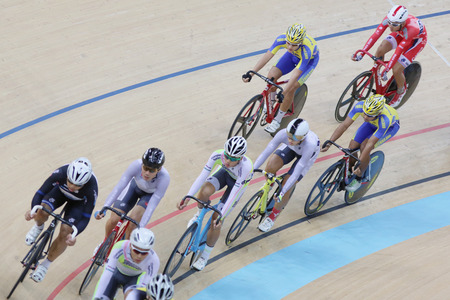 keirin: Indoor traccia riunione ciclismo a hong kong Editoriali