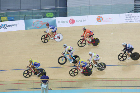 keirin: Indoor track cycling meeting at hong kong