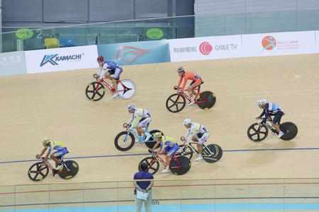 keirin: Indoor track cycling meeting at hong kong