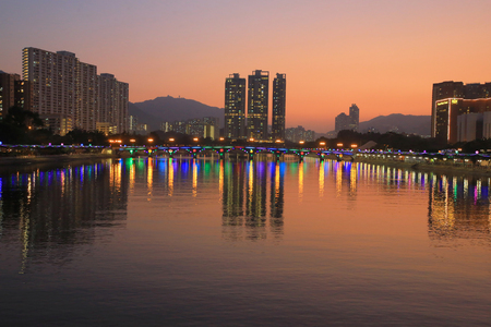 territories: Shing Mun river, Hong Kong Stock Photo