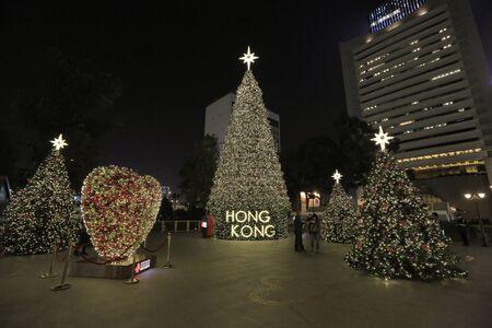 merrychristmas: christmas lighting at central, hong kong