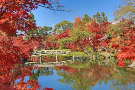 hojo: Eikan-do Zenrin-ji at fall season Stock Photo