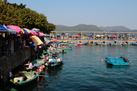 Innenhafen Shelter, Sai Kung Standard-Bild - 35108607