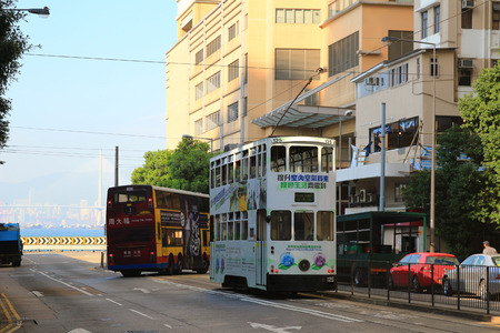 tram at Kennedy Town, hong kong Stock Photo - 35625625