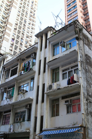 squatter: old apartment building  at san wan