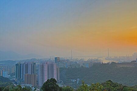 hill of the king: Wah King Hill  view Kwai Chung  district, hong kong