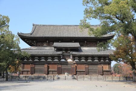building structure: The wooden tower of To-ji Temple