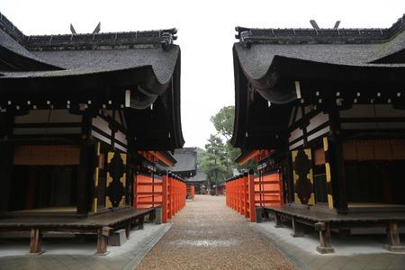 kink: Sumiyoshi Taisha Shrine, Osaka, Japan Editorial