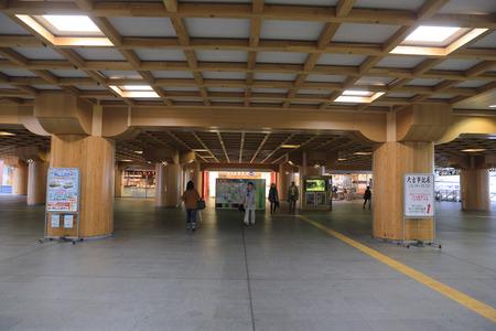 NARA, JAPAN - Unidentified Passengers at Nara Station