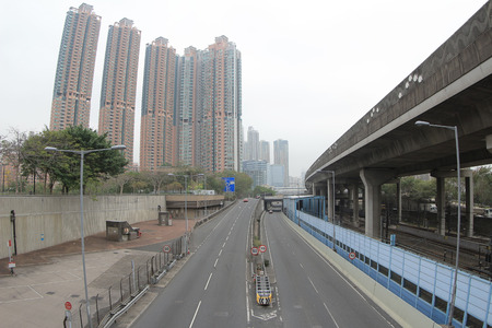 artificial lights: West Kowloon Highway