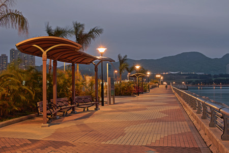 Tseung Kwan O  promenade, hong kong Stock Photo