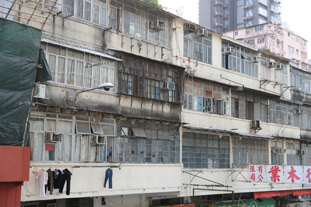 sham: old  building at Sham Shui Po