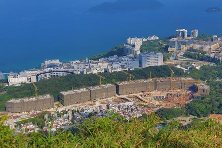 buliding: Tai Po Tsai site of New World house buliding project Stock Photo