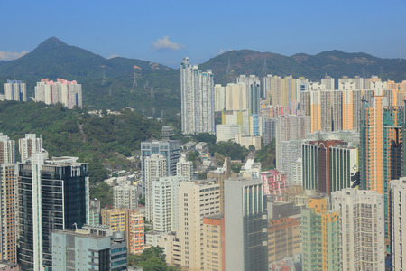 wan: high view of Tsuen Wan district