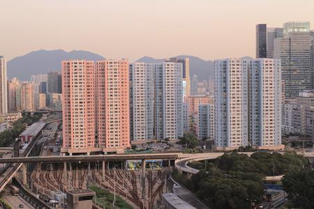 kowloon: Kowloon bay Stock Photo