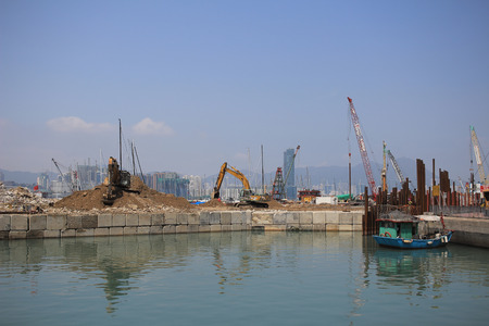 chai: project of Central-Wan Chai Bypass Stock Photo