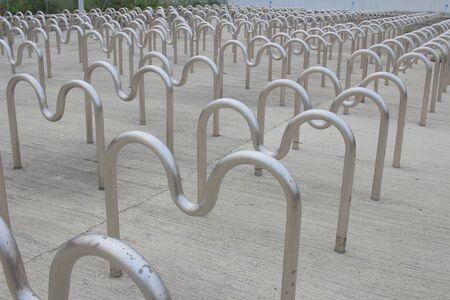 bike parking: Bike parking at tseung kwan O, hong kong