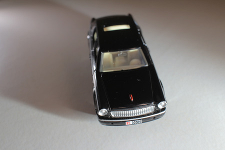 dinky: Black car, isolated on white background