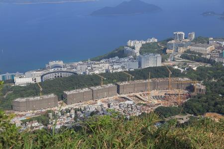 buliding: Tai Po Tsai site of New World house buliding project Editorial
