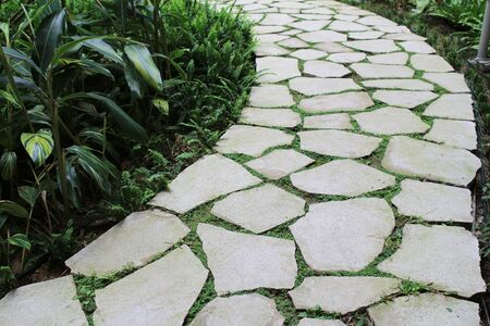 stone road: stone road at the garden Stock Photo