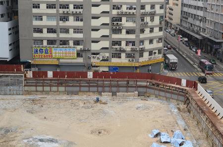 buliding: buliding site at kwun tong Editorial