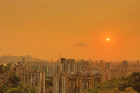 tong: kwun tong district view Hong kong
