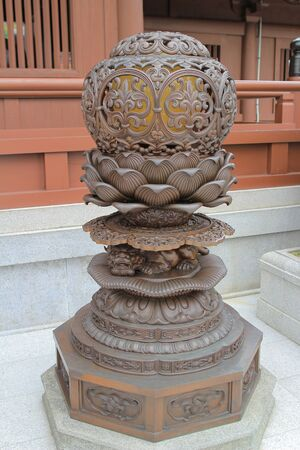 buddism: a buddism pattern of Metal  lamp of staues