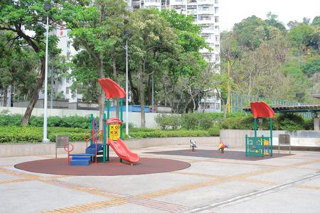 playground equipment: a colourful children playground equipment. Stock Photo